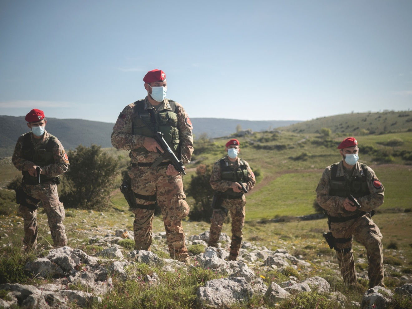 001_ULUP - Italy;Apulia;San Marco in Lamis;2021  Patrolling near San Marco in Lamis of Puglia Hunters. The squadron sent in 2017 after the massacre that took place in San Marco in Lamis is particularly concerned about the territory of the Gargano.  This special department of the Carabinieri (Italian military police) was founded in Calabria to counter the 'Ndrangheta. It operates in the regions where it is needed the most: Calabria, Campania, Sicily, Sardinia and Apulia. The hunters are crucial in a territory as complicated as Gargano, with hundreds of caves, abandoned farms and paths that only the locals and criminals know very well. Since they started, the results have been 429 arrests.