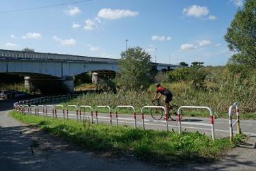Il ponte monumentale di Mezzocammino: dove il GRA attraversa il fiume a Sud